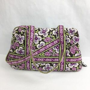Vera Bradley Purple & Brown Floral  Shoulder Purse